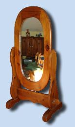 Early American Pine Cheval Mirror