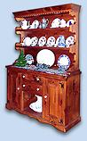Northern White Pine Early American Open Top Hutch