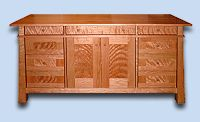 Custom Handcrafted Flame Cherry Asian Entertainment Center