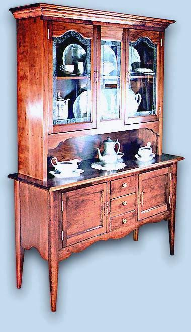 Cherry Colonial China Cabinet