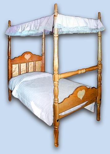 Cherry & Birdseye Maple Colonial Canopy Bed