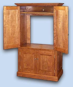 Cherry Colonial Style Entertainment Center