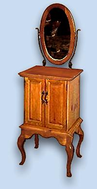Colonial Queen Anne Style Jewelry Cabinet