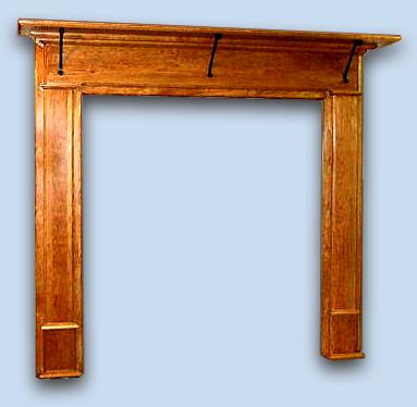 Cherry Colonial Fireplace Mantle