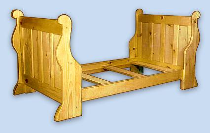 Pine Colonial Sleigh Bed