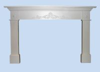 Custom Made Colonial Mantel & Fluted Pilasters