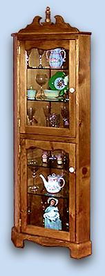Northern White Pine Early American Corner Hutch