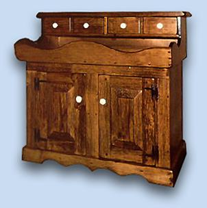 Pine Early American Dry Sink