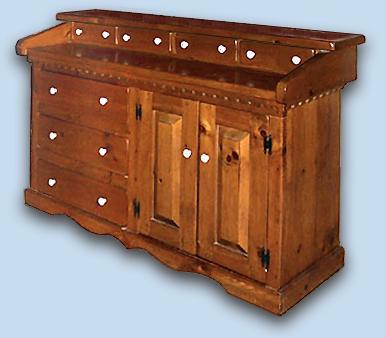 Northern White Pine Early American Martha Washington Dresser