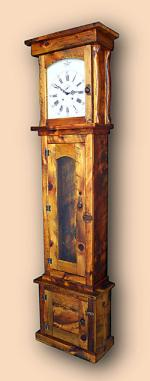 Pine Rustic Tall  Clock