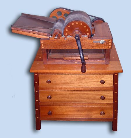 Mahogany Carting Machine & 3 Drawer Cabinet