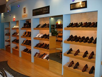 Custom Made Maple Desk / Sales Counter & Shoe Display Racks
