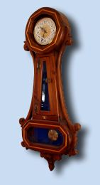 Handcrafted Northern White Pine Banjo Clock