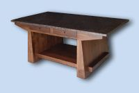 Custom Handcrafted Walnut Japanese Style Table / Desk