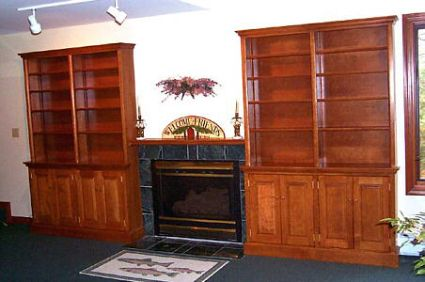 Handmade Custom Bookcases & Library Cabinets