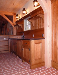Custom Built Oak Bar Cabinetry
