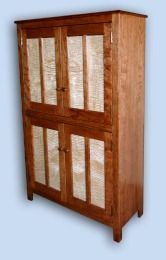 Cherry & Tiger Maple Mission Style Cupboard