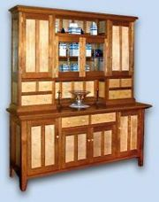 Cherry & Tiger Maple Shaker Hutch