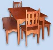 Cherry Shaker Benches, Chairs, & Table