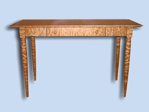 Heirloom Quilted Maple Shaker Computer Desk / Side Table