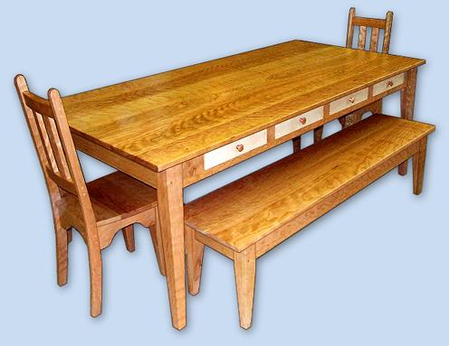 Cherry Shaker Dining Room Table & Chairs