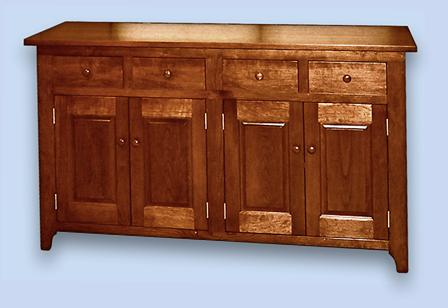Red Maple Shaker Buffet Server