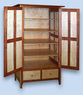 Cherry & Tiger Maple Shaker Cupboard